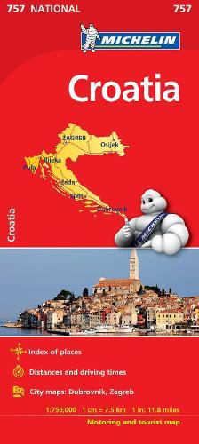 Croatia - Michelin National Map 757: Map - Michelin National Maps (Sheet map)