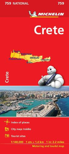 Crete - Michelin National Map 759: Map - Michelin National Maps (Sheet map)