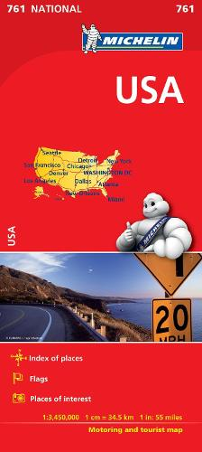 USA - Michelin National Map 761: Map - Michelin National Maps (Sheet map)