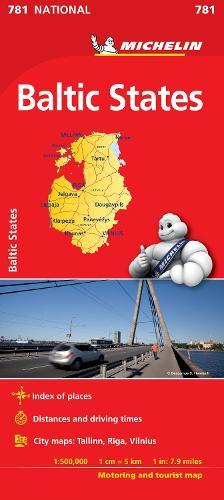 Baltic States - Michelin National Map 781: Map - Michelin National Maps (Sheet map)