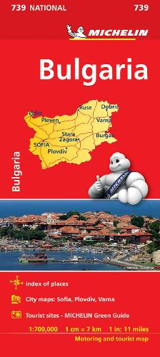 Bulgaria - Michelin National Map 739: Map - Michelin National Maps (Sheet map)