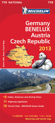 Germany, Benelux, Austria, Czech Republic 2013 - Michelin National Maps 719 (Sheet map, folded)