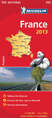 France 2013 - Michelin National Maps 723 (Sheet map, folded)