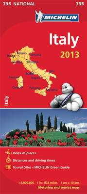 Italy 2013 - Michelin National Maps 735 (Sheet map, folded)
