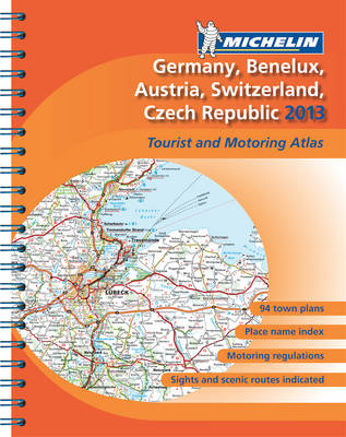 Germany, Benelux, Austria, Switzerland, Czech Republic 2013 - Michelin Tourist and Motoring Atlases (Spiral bound)