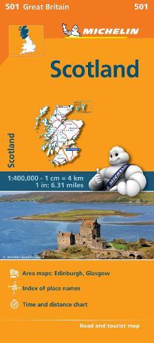 Scotland - Michelin Regional Map 501: Map - Michelin Regional Maps (Sheet map)