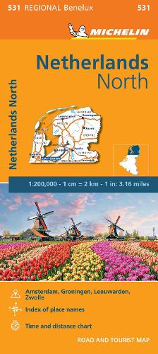 Netherlands North - Michelin Regional Map 531: Map - Michelin Regional Maps (Sheet map)