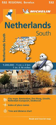Netherlands South - Michelin Regional Map 532: Map - Michelin Regional Maps (Sheet map)