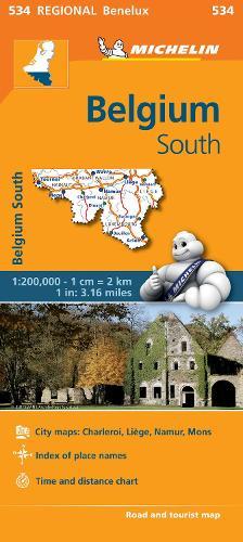 Belgium South - Michelin Regional Map 534: Map - Michelin Regional Maps (Sheet map)