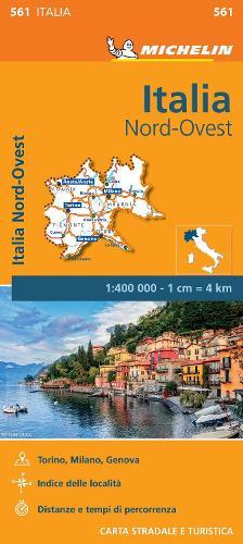 Italy Northwest - Michelin Regional Map 561: Map - Michelin Regional Maps (Sheet map)