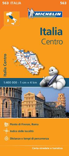 Italy Centre - Michelin Regional Map 563: Map - Michelin Regional Maps (Sheet map)