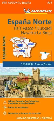 Pais Vasco, Navarra, La Rioja - Michelin Regional Map 573: Map - Michelin Regional Maps (Sheet map)