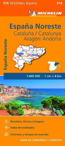 Aragon Cataluna - Michelin Regional Map 574: Map - Michelin Regional Maps (Sheet map)