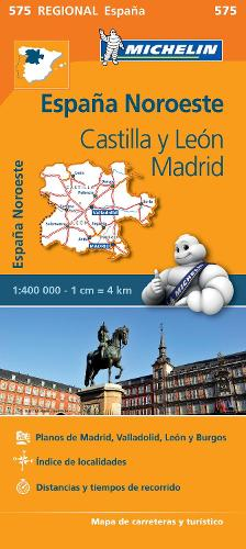Castilla y Leon, Madrid - Michelin Regional Map 575: Map - Michelin Regional Maps (Sheet map)