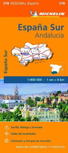 Andalucia - Michelin Regional Map 578: Map - Michelin Regional Maps (Sheet map)