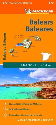 Baleares - Michelin Regional Map 579: Map - Michelin Regional Maps (Sheet map)