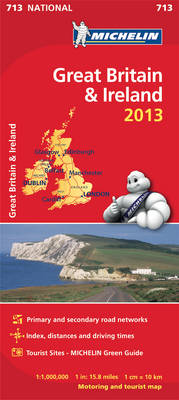Great Britain and Ireland 2013 - Michelin National Maps 713 (Sheet map, folded)