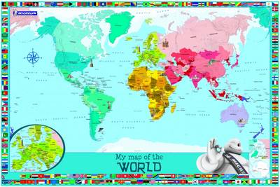 My Map of the World - Michelin Children Wall Map (Sheet map, rolled)