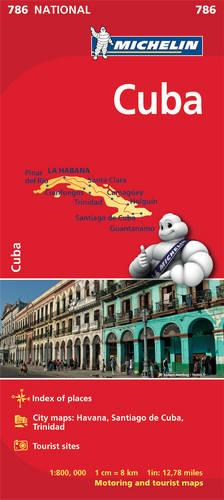 Cuba - Michelin National Map 786 - MICHELIN NATIONAL MAPS (Sheet map, folded)