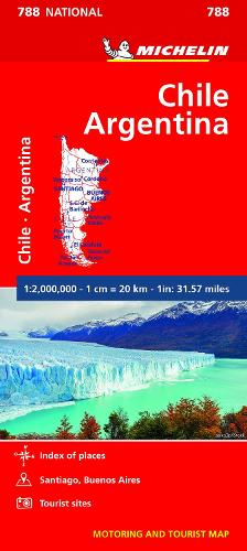 Chile Argentina - Michelin National Map 788: Map - Michelin National Maps (Sheet map)