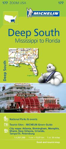Deep South - Zoom Map 177: Map - Michelin Zoom Maps (Sheet map)