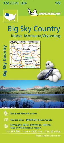 Big Sky Country - Zoom Map 172: Map - Michelin Zoom Maps (Sheet map)