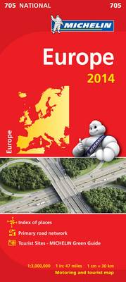 Europe 2014 National Map 705 - Michelin National Maps 705 (Sheet map, folded)