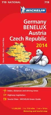Germany Benelux Austria Czech Republic 2014 National Map 719 - Michelin National Maps 719 (Sheet map, folded)
