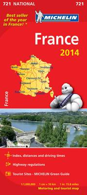France 2014 National Map 721 - Michelin National Maps 721 (Sheet map, folded)