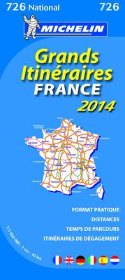 France Route Planning 2014 National Map 726 - Michelin National Maps 726 (Sheet map, folded)