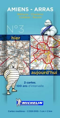 Amiens Valenciennes Centenary Map - Michelin Historical Maps 8002