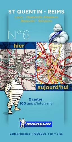 Sain-Quentin - Reims Centenary Maps - Michelin Historical Maps 8006