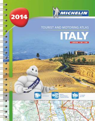 Italy 2014 A4 spiral atlas - Michelin Tourist and Motoring Atlas (Spiral bound)