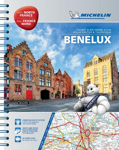 Benelux & North of France Road Atlas - Michelin Atlas (Spiral bound)