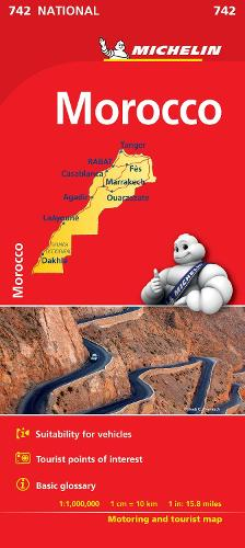 Morocco Map - Michelin National Map (Sheet map, folded)