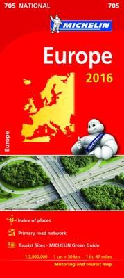 Michelin Maps: Michelin Map 705 Europe (Sheet map)