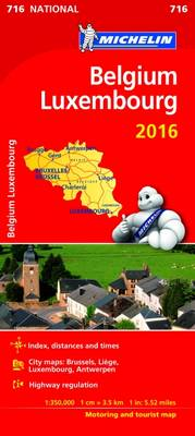 Michelin Maps: Michelin Map 716 Belgium Luxembourg (Sheet map)