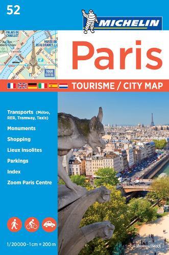 Paris - Michelin City Plan 52: City Plans - Michelin City Plans (Sheet map)