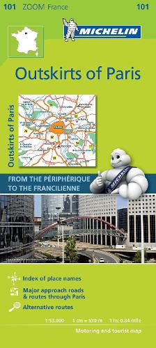 Outskirts of Paris - Zoom Map 101: Map - Michelin Zoom Maps (Sheet map)