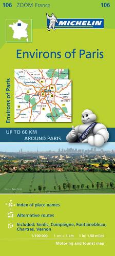 Environs of Paris - Zoom Map 106: Map - Michelin Zoom Maps (Sheet map)