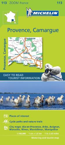 Provence, Camargue - Zoom Map 113: Map - Michelin Zoom Maps (Sheet map)