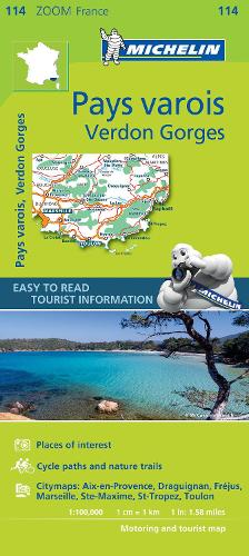 Pays Varois, Verdon Gorges - Zoom Map 114: Map - Michelin Zoom Maps (Sheet map)