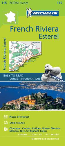 French Riviera, Esterel - Zoom Map 115: Map - Michelin Zoom Maps (Sheet map)