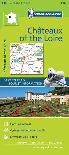Chateaux of the Loire - Zoom Map 116: Map - Michelin Zoom Maps (Sheet map)