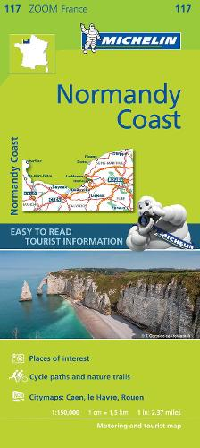 Normandy Coast - Zoom Map 117: Map - Michelin Zoom Maps (Sheet map)