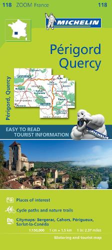 Quercy Perigord - Zoom Map 118: Map - Michelin Zoom Maps (Sheet map)