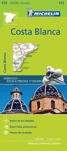 Costa Blanca - Zoom Map 123: Map - Michelin Zoom Maps (Sheet map)