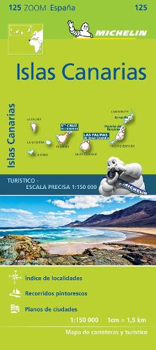 Iles Canaries - Zoom Map 125: Map - Michelin Zoom Maps (Sheet map)