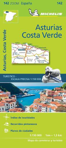 Asturias Costa Verde - Zoom Map 142: Map - Michelin Zoom Maps (Sheet map)