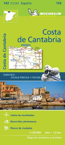 Costa de Cantabria - Zoom Map 143: Map - Michelin Zoom Maps (Sheet map)